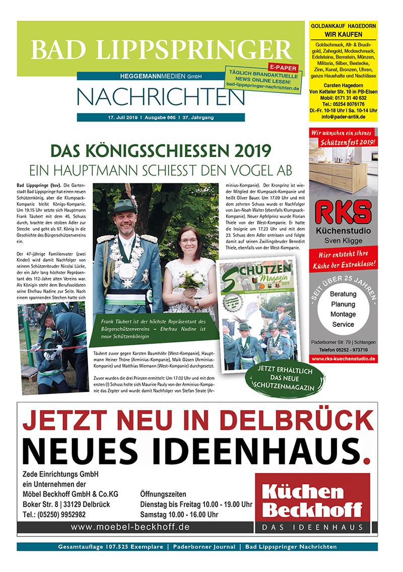 Bad Lippspringer Nachrichten 665 vom 17.07.2019