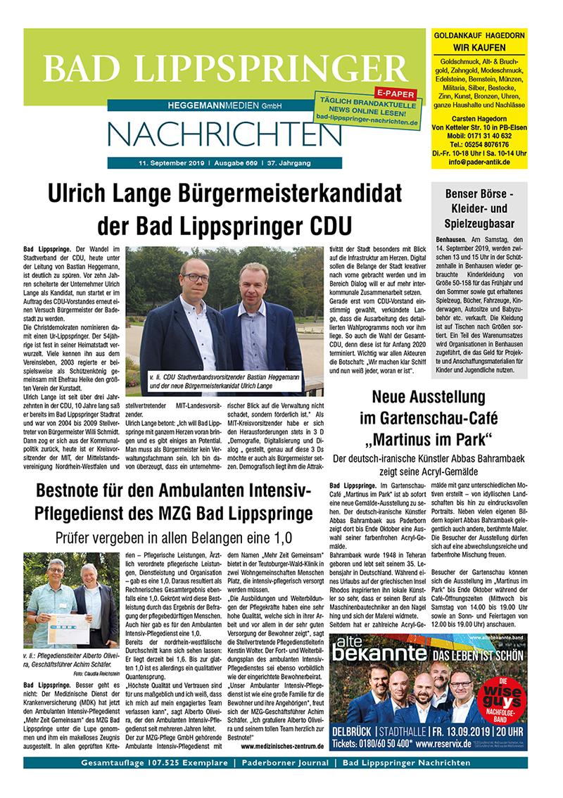 Bad Lippspringer Nachrichten 669 vom 11.09.2019