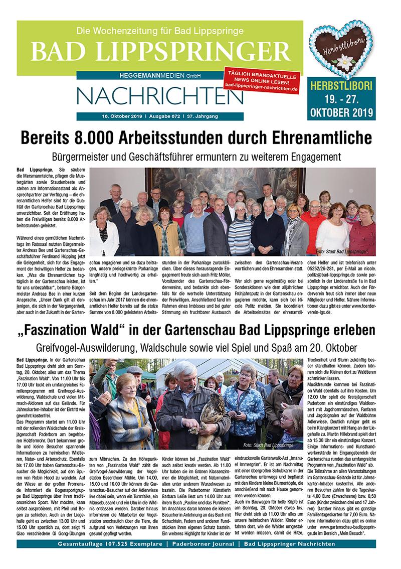Bad Lippspringer Nachrichten 672 vom 16.10.2019