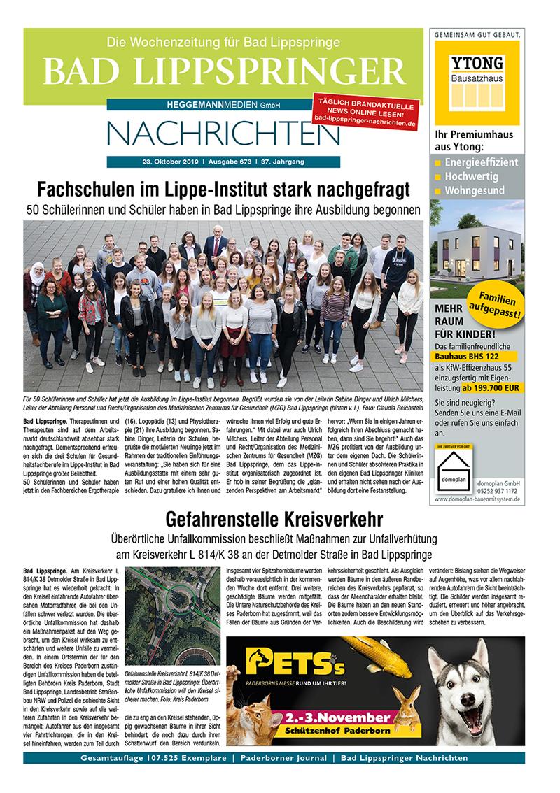 Bad Lippspringer Nachrichten 673 vom 23.10.2019