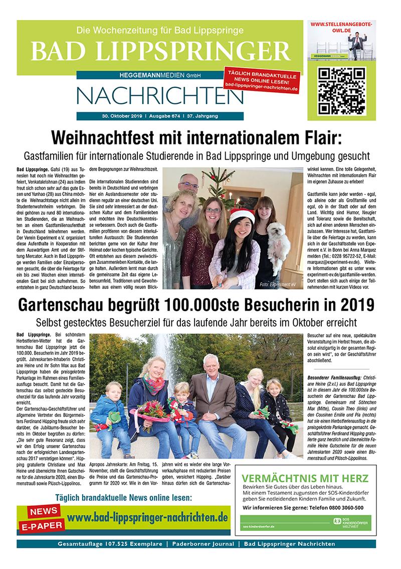 Bad Lippspringer Nachrichten 674 vom 30.10.2019