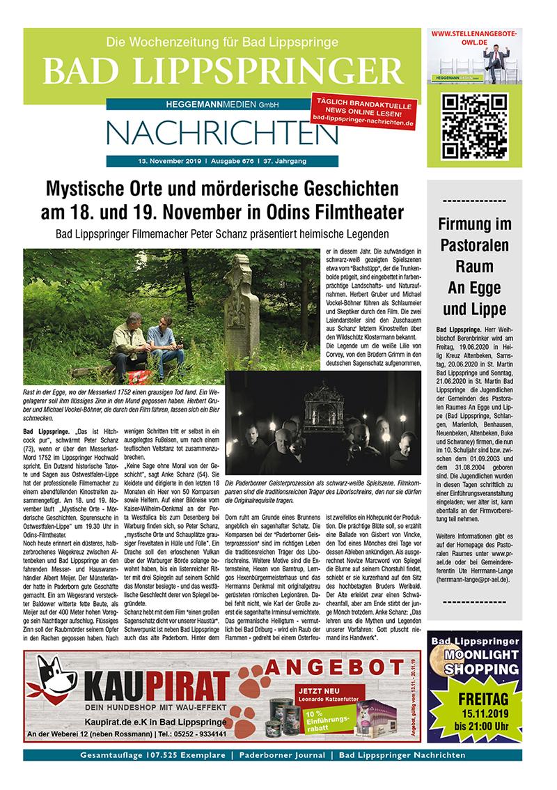 Bad Lippspringer Nachrichten 676 vom 13.11.2019