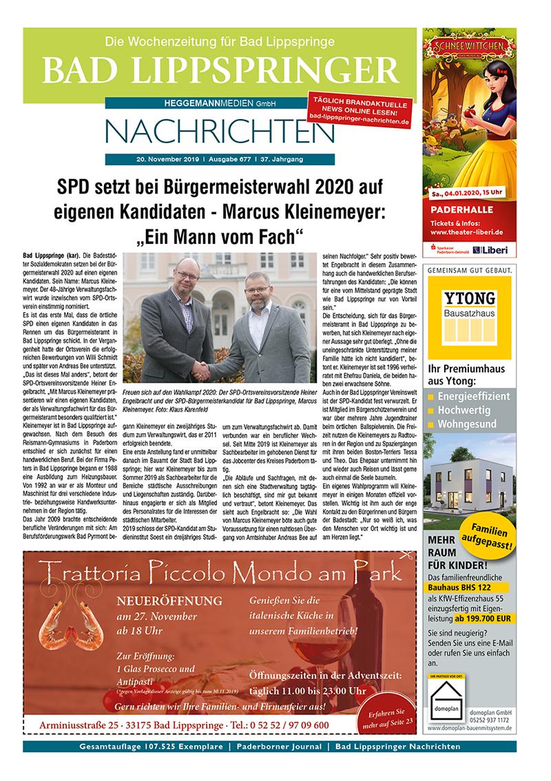 Bad Lippspringer Nachrichten 677 vom 20.11.2019
