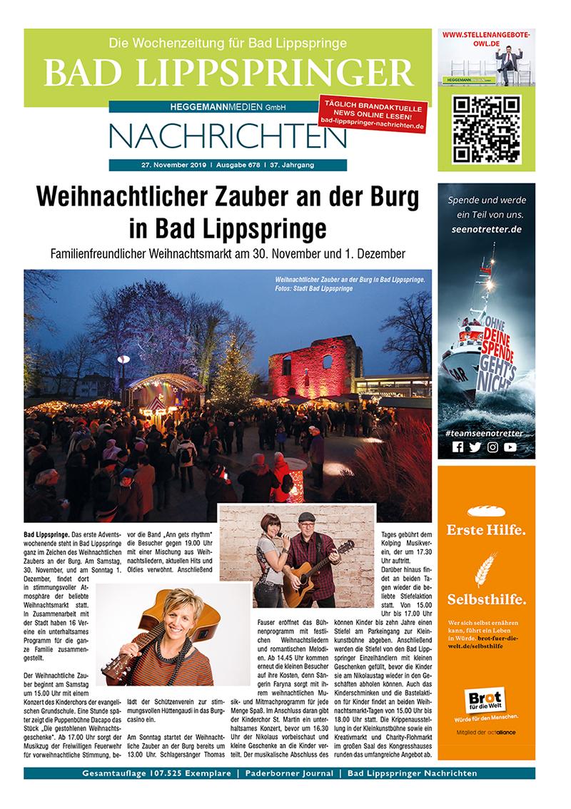 Bad Lippspringer Nachrichten 678 vom 27.11.2019