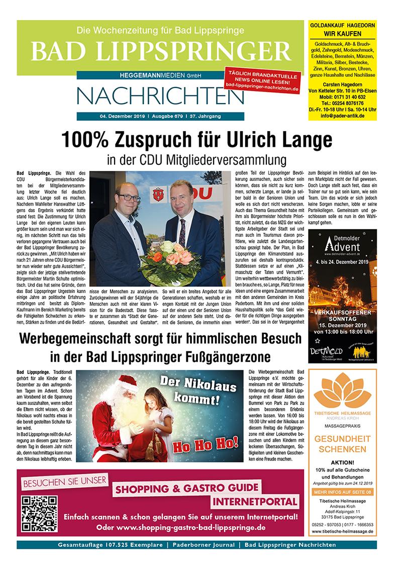Bad Lippspringer Nachrichten 679 vom 04.12.2019