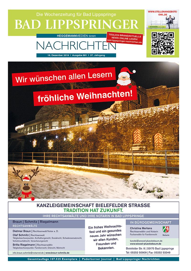 Bad Lippspringer Nachrichten 681 vom 18.12.2019