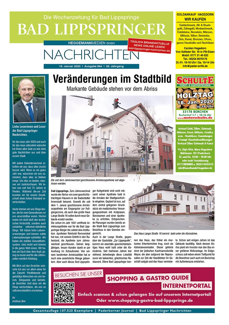 Bad Lippspringer Nachrichten 684 vom 15.01.2020