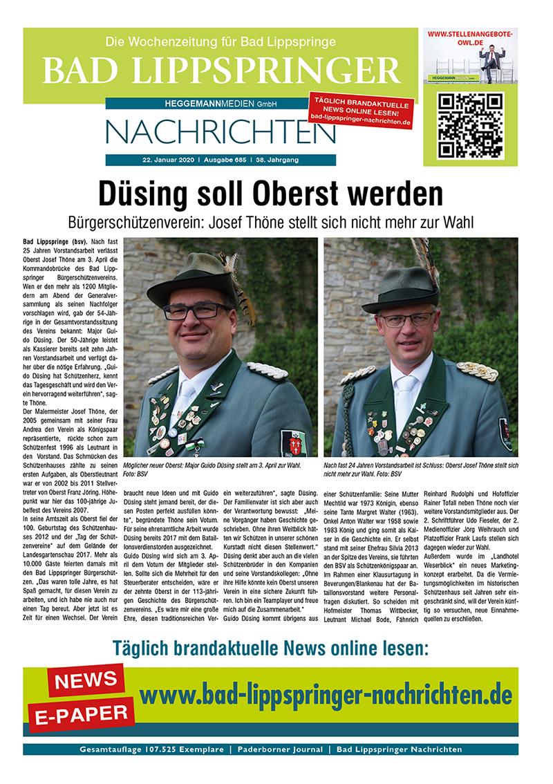 Bad Lippspringer Nachrichten 685 vom 22.01.2020