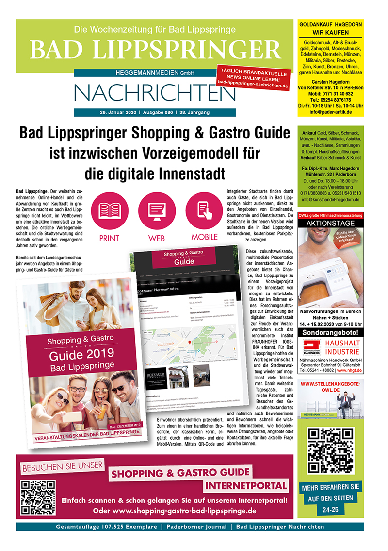 Bad Lippspringer Nachrichten 686 vom 29.01.2020