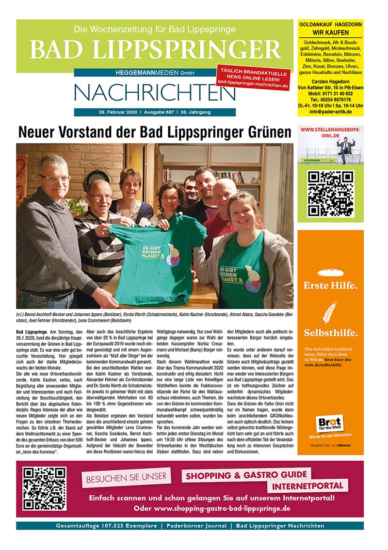 Bad Lippspringer Nachrichten 687 vom 05.02.2020