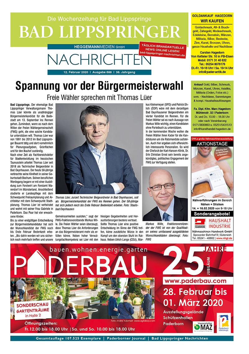 Bad Lippspringer Nachrichten 688 vom 12.02.2020