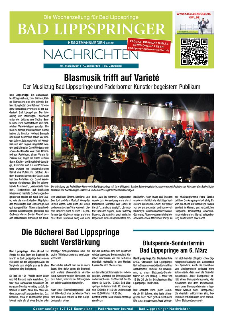 Bad Lippspringer Nachrichten 691 vom 04.03.2020