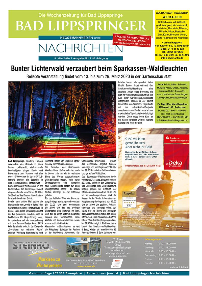 Bad Lippspringer Nachrichten 692 vom 11.03.2020
