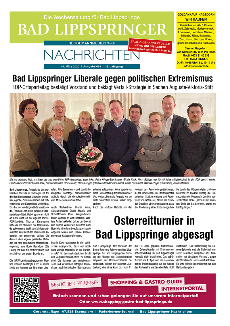 Bad Lippspringer Nachrichten 693 vom 18.03.2020
