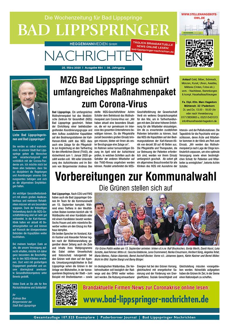 Bad Lippspringer Nachrichten 694 vom 25.03.2020
