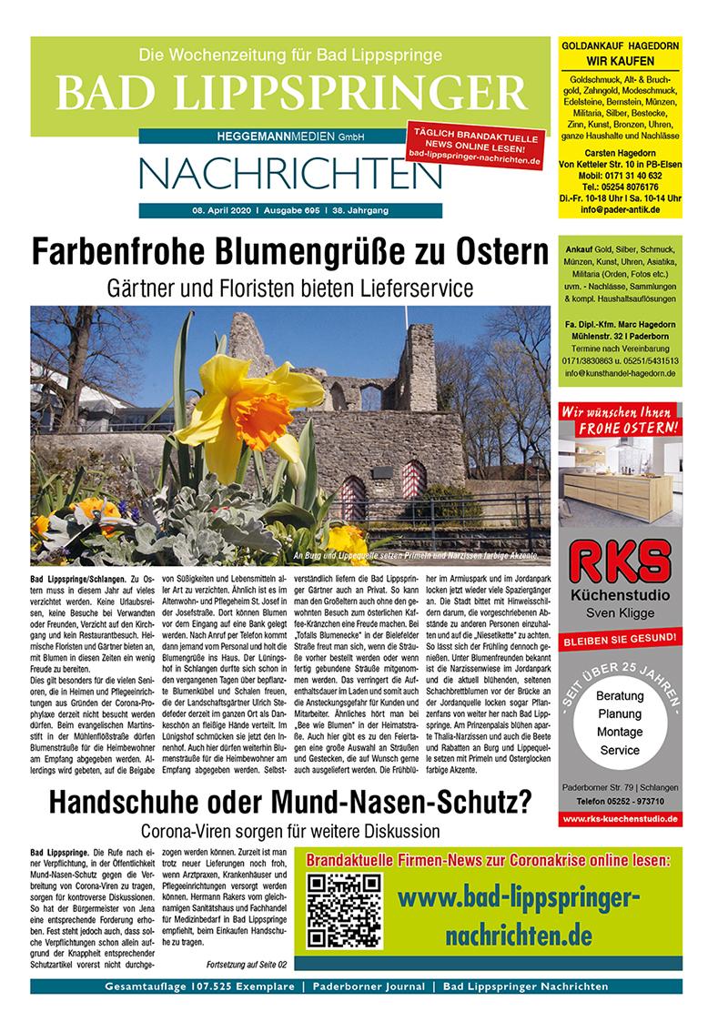 Bad Lippspringer Nachrichten 695 vom 08.04.2020