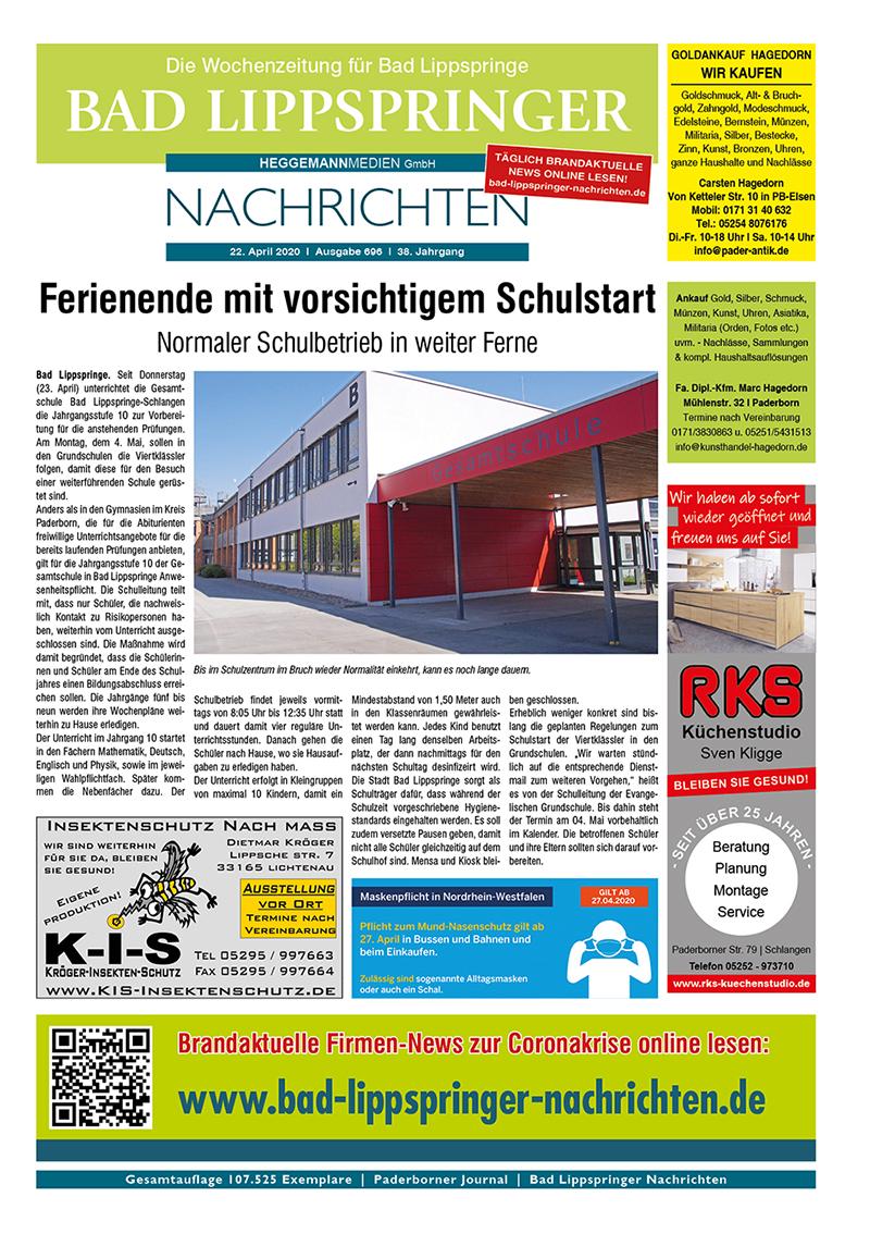 Bad Lippspringer Nachrichten 696 vom 23.04.2020
