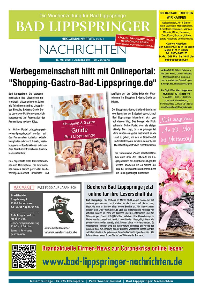 Bad Lippspringer Nachrichten 697 vom 06.05.2020