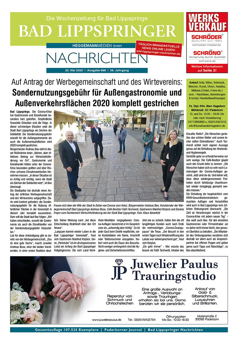 Bad Lippspringer Nachrichten 698 vom 20.05.2020