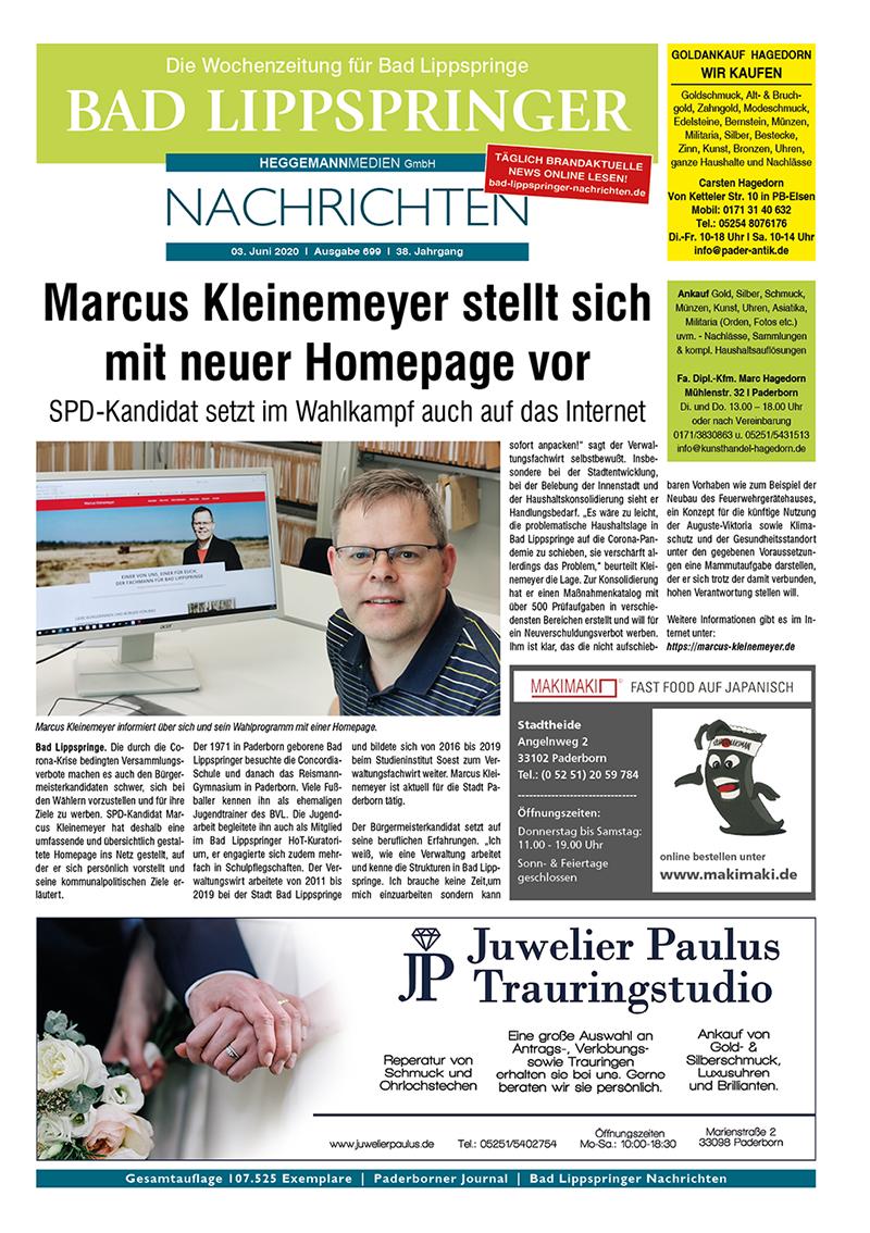 Bad Lippspringer Nachrichten 699 vom 03.06.2020