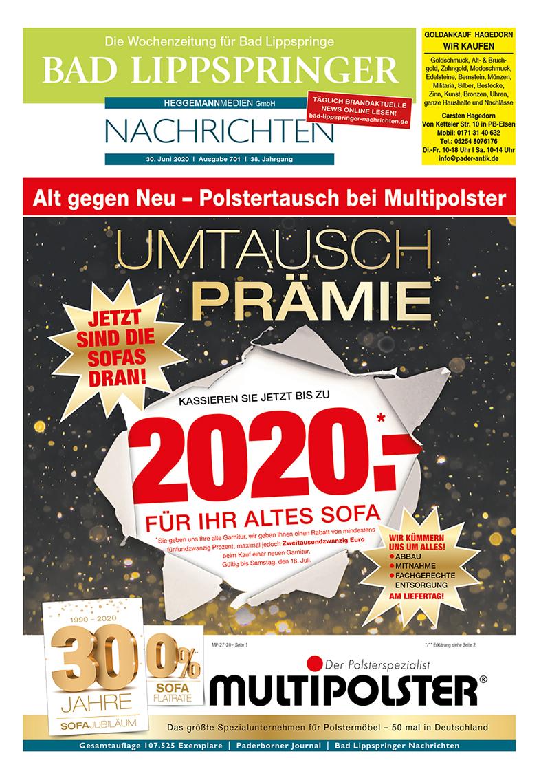 Bad Lippspringer Nachrichten 701 vom 30.06.2020
