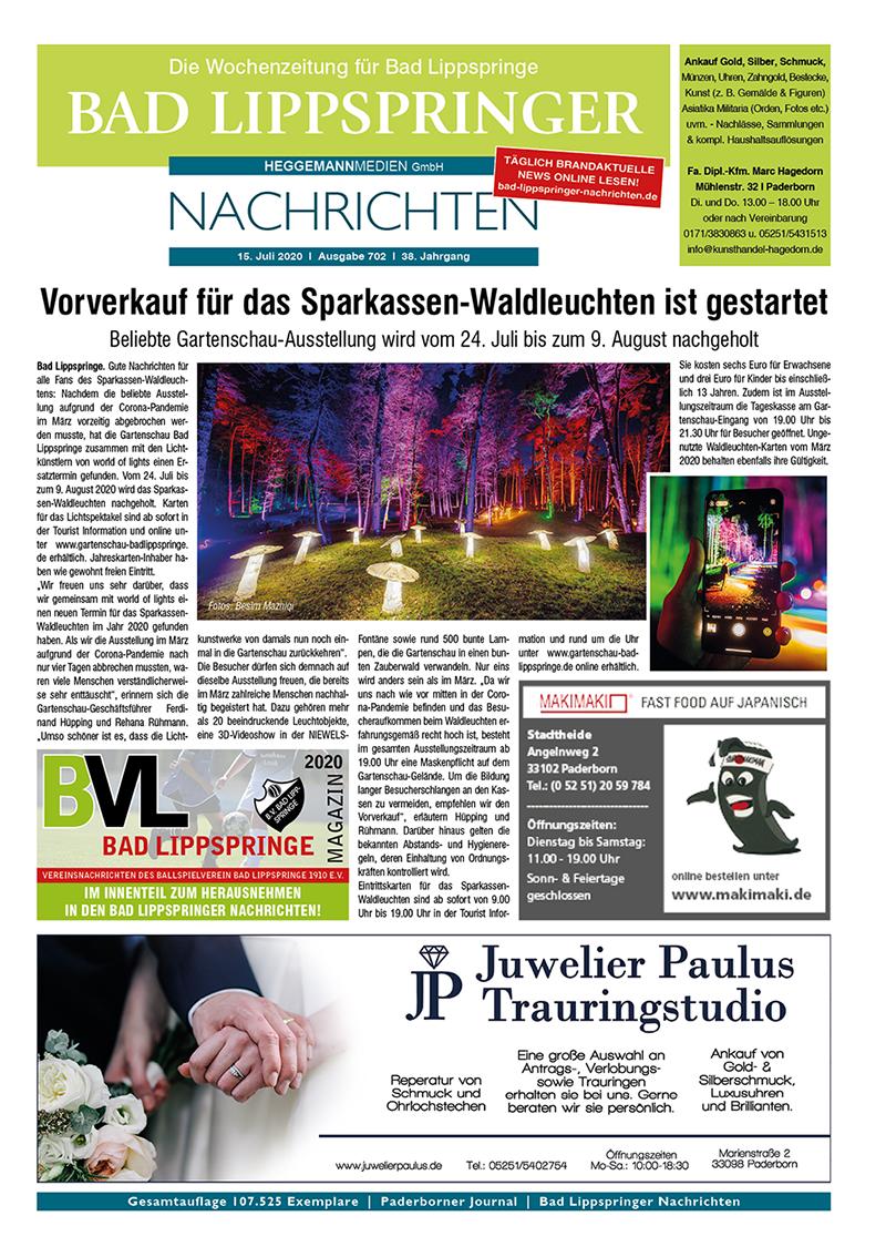 Bad Lippspringer Nachrichten 702 vom 15.07.2020