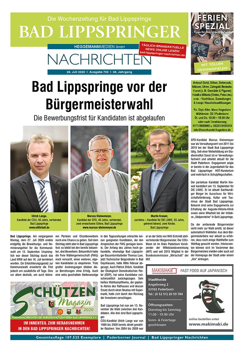 Bad Lippspringer Nachrichten 703 vom 29.07.2020