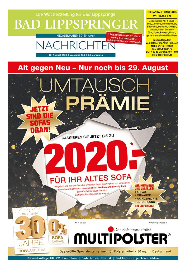 Bad Lippspringer Nachrichten 704 vom 12.08.2020