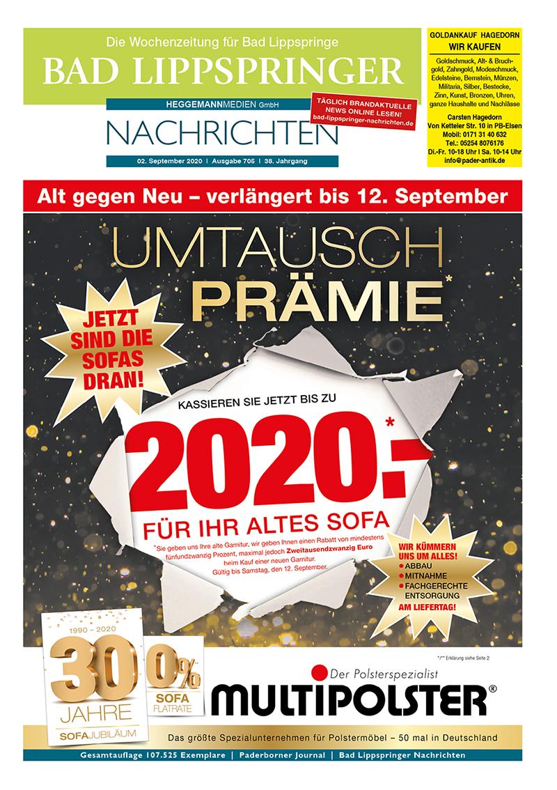 Bad Lippspringer Nachrichten 705 vom 02.09.2020