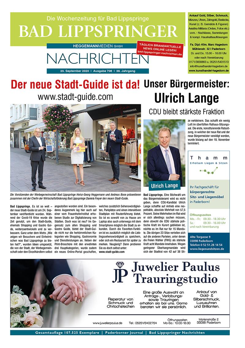 Bad Lippspringer Nachrichten 706 vom 23.09.2020
