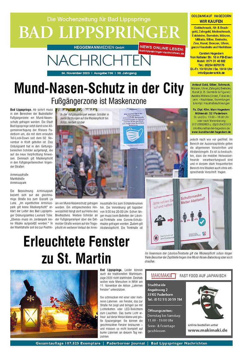 Bad Lippspringer Nachrichten 709 vom 04.11.2020