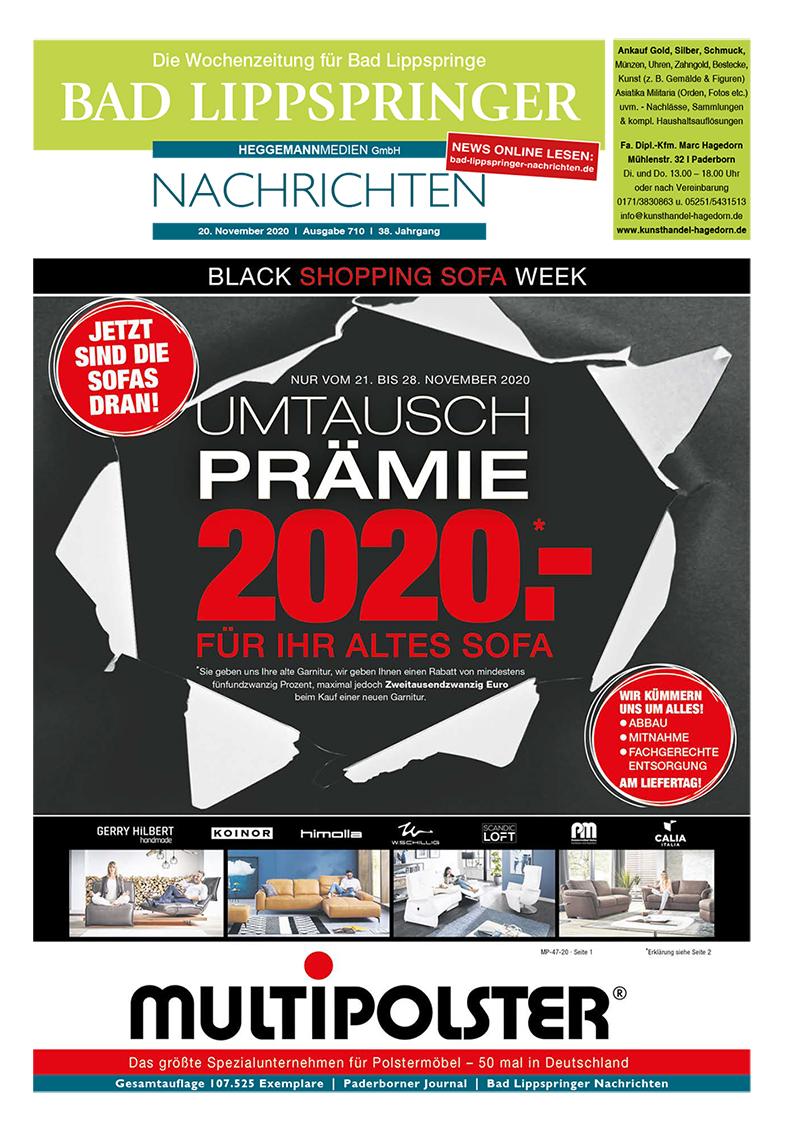 Bad Lippspringer Nachrichten 710 vom 20.11.2020