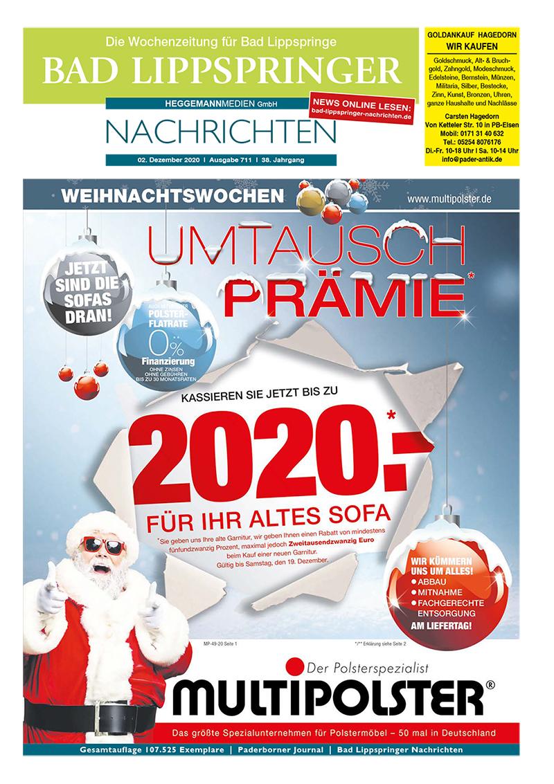 Bad Lippspringer Nachrichten 711 vom 02.12.2020