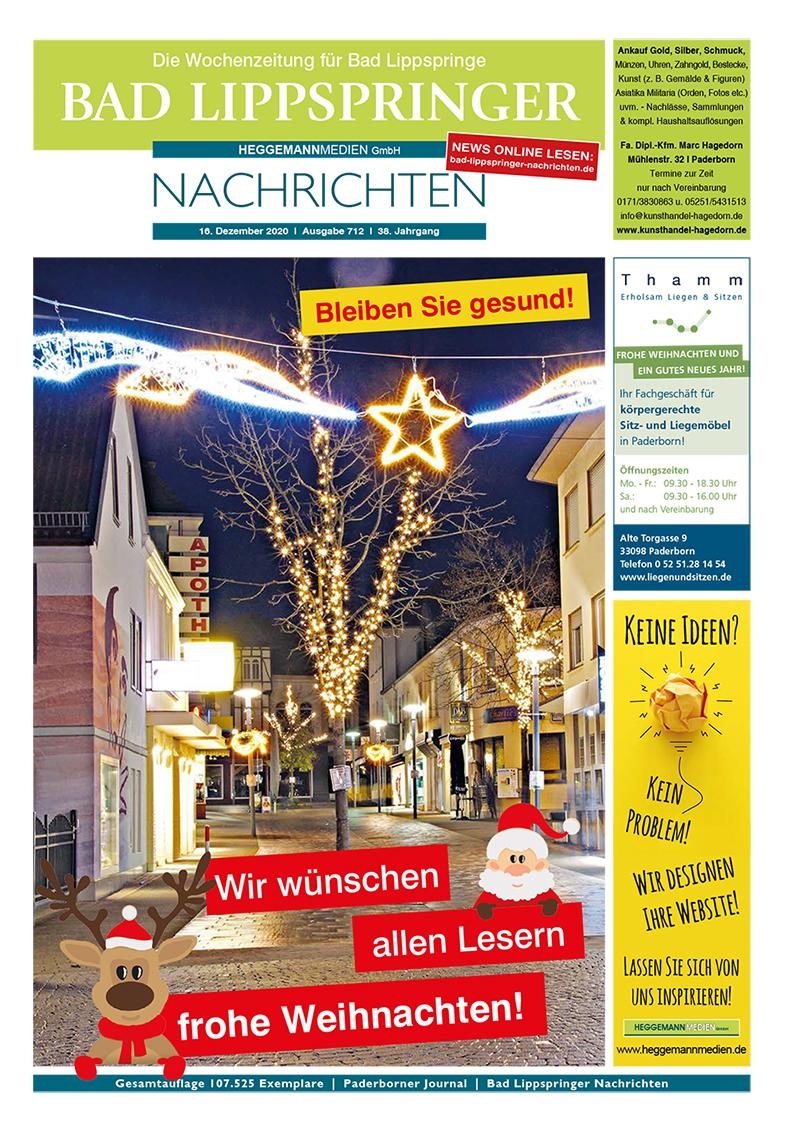 Bad Lippspringer Nachrichten 712 vom 02.12.2020