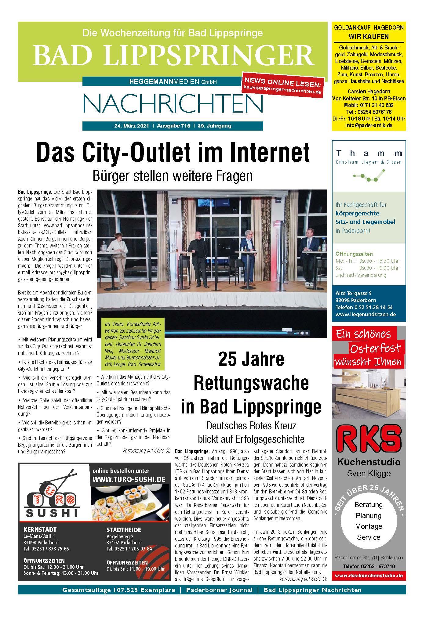Bad Lippspringer Nachrichten 715 vom 03.03.2021