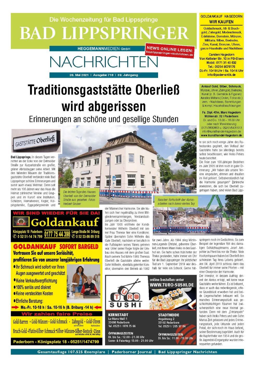Bad Lippspringer Nachrichten Ausgabe 718